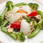 味楽軒 - イカと野菜の炒め物