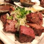 鉄火 - 和豚レバー焼き580円