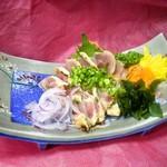 楽膳 - 知覧鶏のタタキ   580円