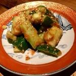 なっぱjuicy - たたき胡瓜の梅肉和え