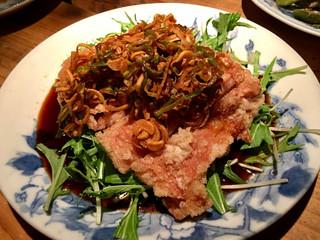 なっぱjuicy - 鶏のザクザク揚 ネギたっぷりソース