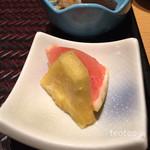 博多華味鳥 - デザートはパイナップルとピンクグレープフルーツ