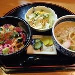みき寿司 - みに海鮮あられちらしとみにうどんセット@918