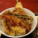 いわもとQ - セットの天丼❗ご飯がイマイチだなぁ~