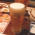 63741888 - 生ビール(560円)【平成29年3月8日撮影】