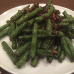 三和楼 - インゲン豆と挽肉のピリ辛炒め