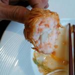 中華菜館 蘭華 - 蟹爪と海老のミンチ、プリプリ感が抜群 作るのに手間がかかっています。 美味しかったです。