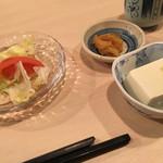 63749559 - サラダ、豆腐、お新香