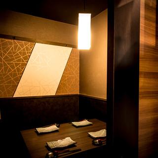 接待や会食にお使い頂ける完全個室