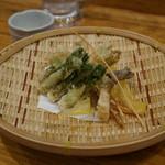 日本料理里乃や - 山菜の天ぷら