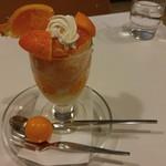 フルーツパーラーフクナガ - マスターの気まぐれかんきつパフェ