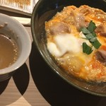 鳥かど - 親子丼と鳥スープ