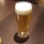 63759200 - 生ビールは控えめな量