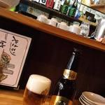 やきとり 竹橋 - エビスビール(中瓶)
