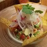 Mexican Dining AVOCADO - サーモンとアボガドドセビーチェ マリネです