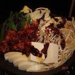 き平 - 料理写真:石焼き味噌もつ鍋
