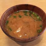 やきもんや Saute - 豚汁はおかわり無料!ゴボウやこんにゃく、具沢山で美味しい!