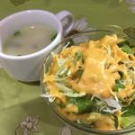 サガルマータ - セットのサラダ&スープ