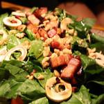 ブルー・ブランシュ - ●ベーコンソテーとマッシュルームのホウレン草サラダ