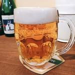 "Beer House ALNILAM - ジョッキには薄く""Pilsner Urquell""と"