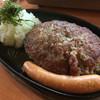 大衆肉料理 榎久 - 料理写真:おろしハンバーグ定食250g ¥950(2017年3月11日現在)※ソーセージトッピング