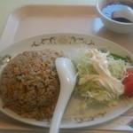 三昧井 - チャーハン単品、ミニ野菜サラダが付きます。
