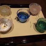 飛騨古川 料亭旅館 八ツ三館 - 飛騨古川の飲み比べ