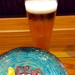 鯖とか烏賊とか真とか - 「生ビール」(450円)。