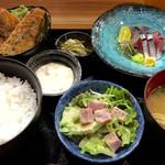 鯖とか烏賊とか真とか - 「活き鯖定食」(1200円)。
