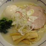 そうげんラーメン - 味玉地鶏白湯ラーメン