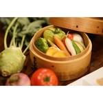 パープルカフェ - 燻製調味料でいただく季節の野菜のセイロ蒸し