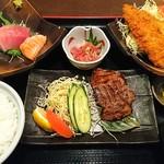 早川 - 仙台風厚切り牛タン焼きのまんぷく御膳(1630円)