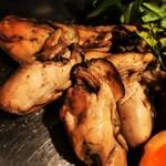 パープルカフェ - 自家製の牡蠣の燻製