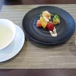 中国料理 翔園 - 前菜、本日のスープ