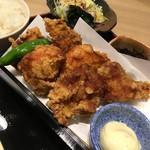 板前バル - 阿波尾鶏三種唐揚御膳