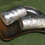七重 - 料理写真:虎鯖棒すし丸々一本