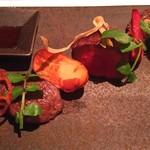 63792998 - 熟成神戸牛の炭火グリル3種の盛合わせ(シンタマ、フィレ、サーロイン)