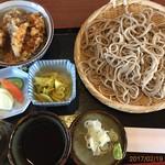 金木庵 - 料理写真:もりそば650円ミニ天丼380円