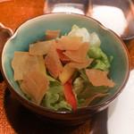 旬彩 天ぷら 心来(しんら) - 卵白ドレッシングのサラダ