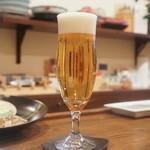 旬彩 天ぷら 心来(しんら) - ビール