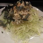 赤鶏炭焼 大安 - 鳥皮サラダ