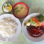 Hokushinkenshiyokudou - ハンバーグライス(上から)