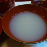 近江神宮 善庵 - そば湯
