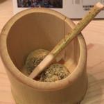 にかいのおねぎや 笹木 - デザートのわらび餅(サービス)