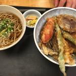 国分寺そば - 野菜天丼おそば付1,500円