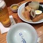 おぐ羅 - エビス600円(税別)と