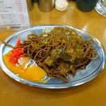 福ちゃん - カレー焼きそば450円+生卵50円