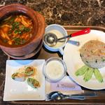 タイレストラン タニサラ - トムヤンクン&カニチャーハンセット 税込1,580円