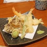 蕎麦 ろうじな - 天ぷら