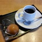 有喜堂 - 「珈琲 菓子付 (400円)」